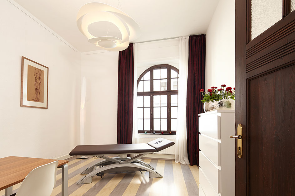 Praxis für Osteopathie Köln Behandlungsraum